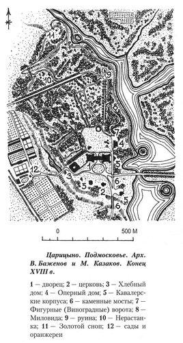 Царицыно, генеральный план комплекса