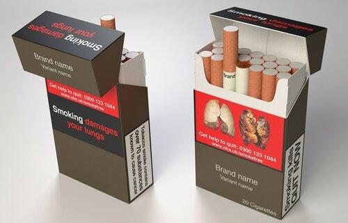 Разные по вкусу сигареты будут упакованы одинаково