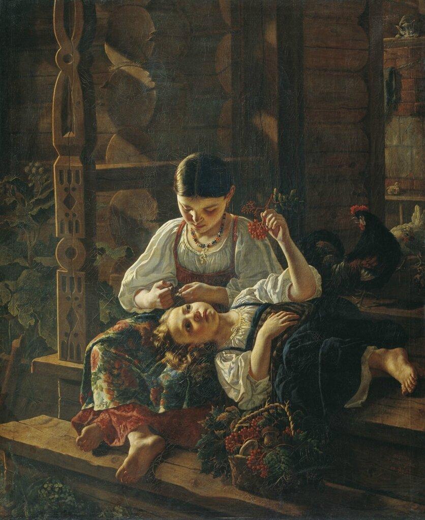 0338.Felicyn.Rostislav.(1830-1904).Na.kryl'ce.izby.1855.holst.maslo.153h125.sm.jpg