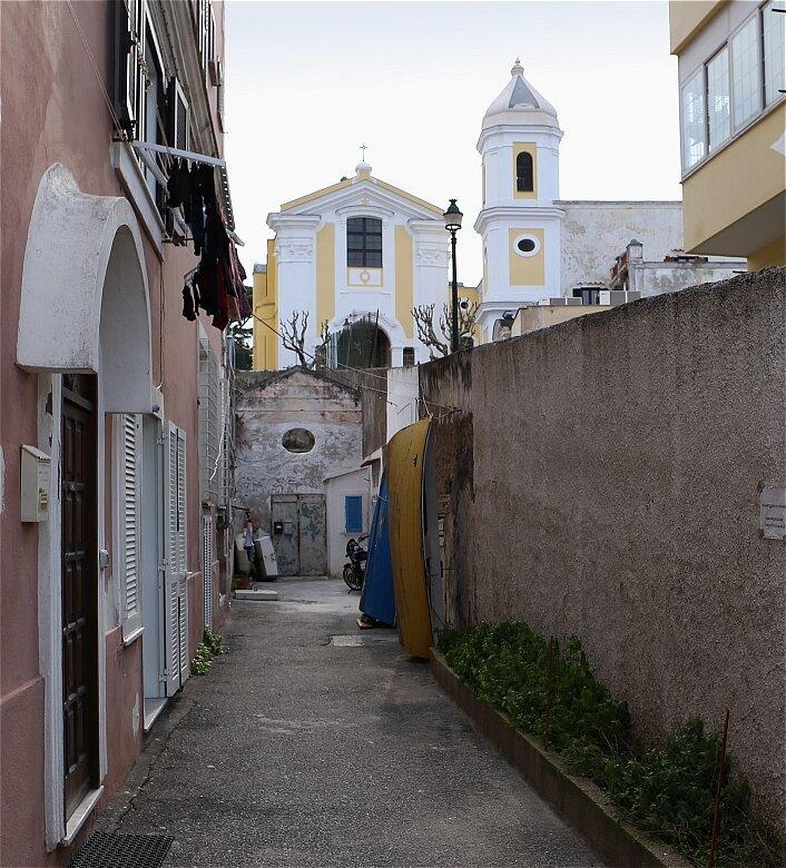 Ischia Porto. The Church of San Antonio
