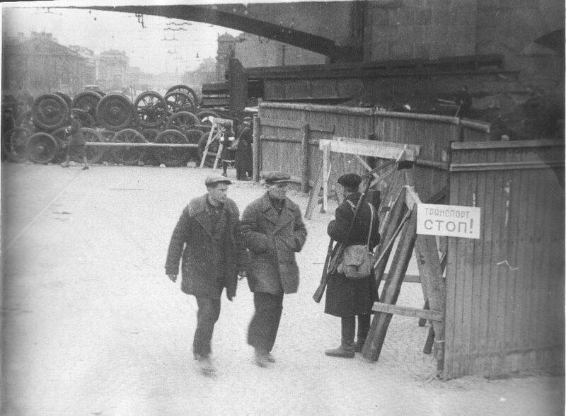 Баррикада у Кировского завода