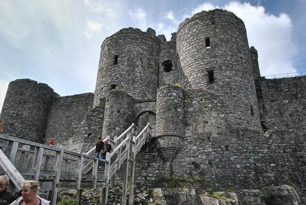 Замок Харлек. Великобритания