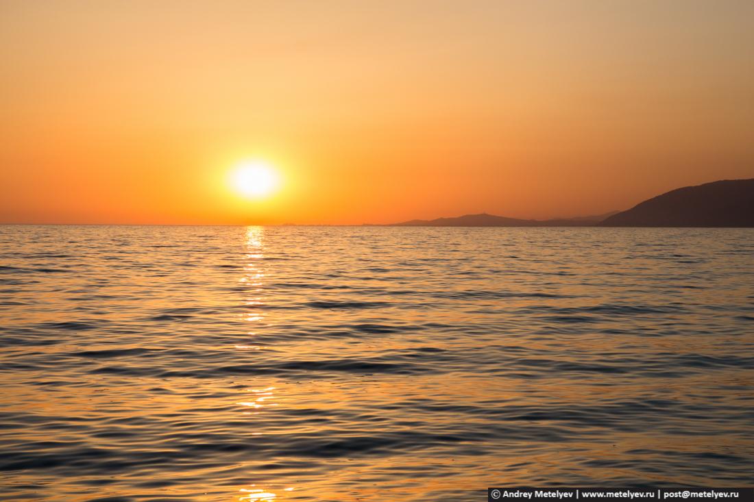 Закат на Черном море, Гагры, Абхазия