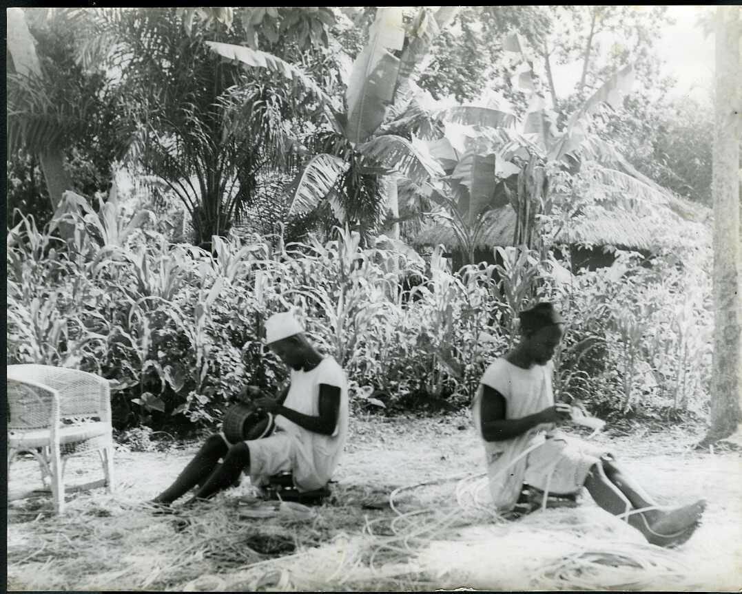 1943. Камерун. Фумбан. Плетение