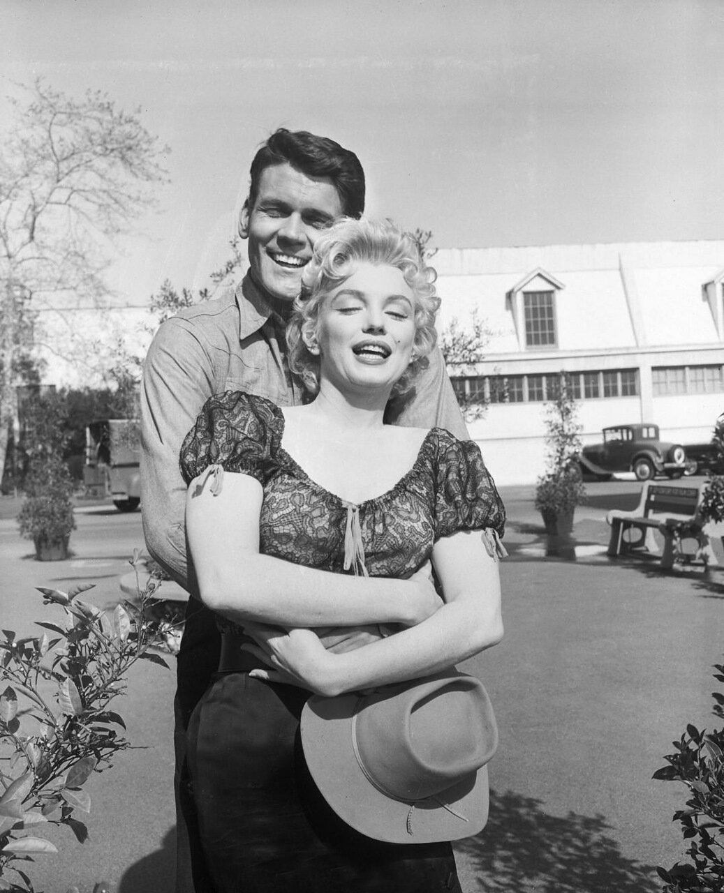 Don Murray Hugging Marilyn Monroe