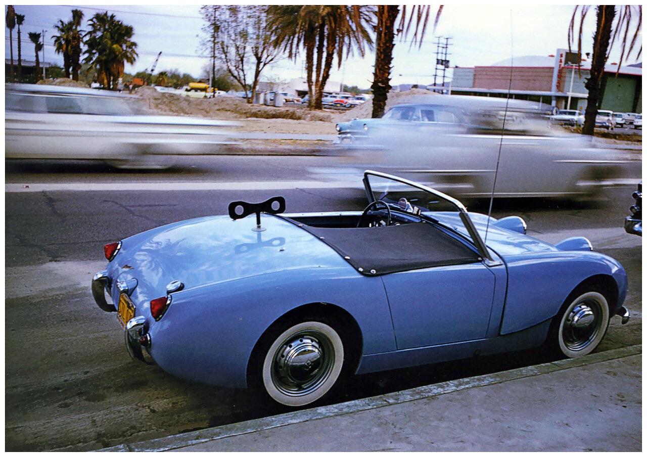 1960. Палм-спрингс. Синий автомобиль