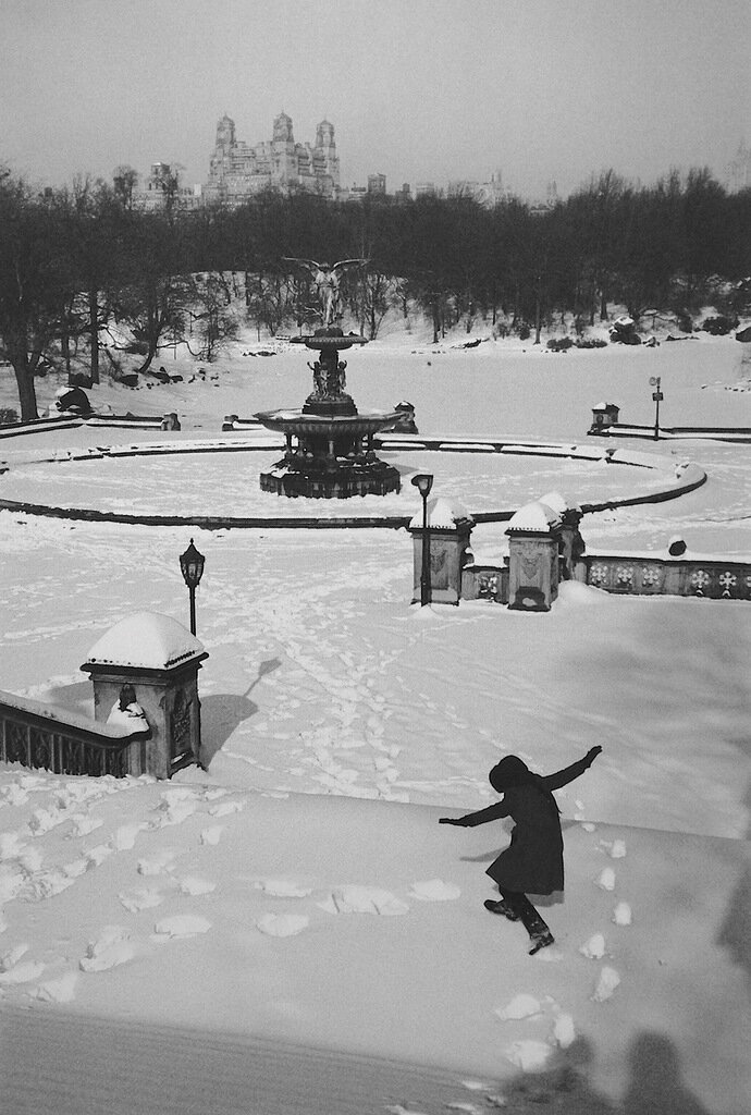 1964. Снег в Центральном парке, Нью-Йорк