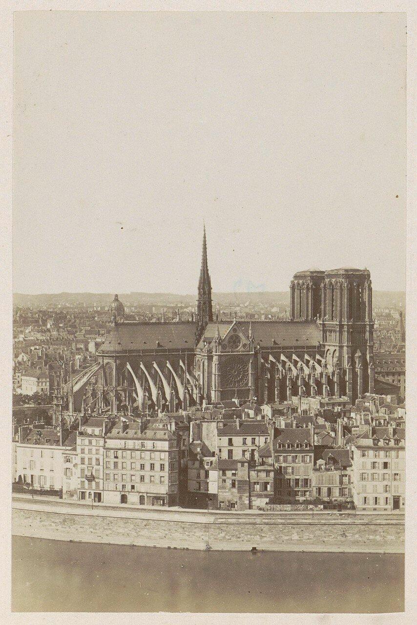 1878. Северная сторона собора Нотр-Дам