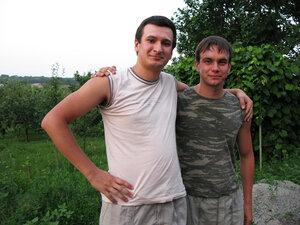 З братом Олегом на природі