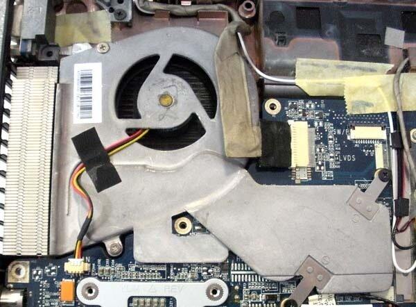ремонт вентилятора в ноутбуке