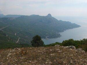 Вид на бухту Ласпи с вершины Куш-Кая