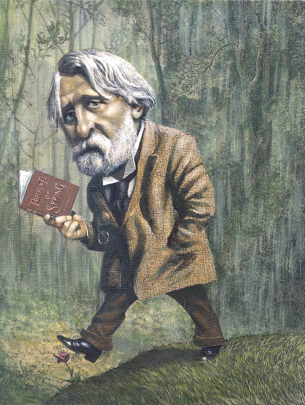 Ivan Turgenev.cartoonist  MarkSummers.