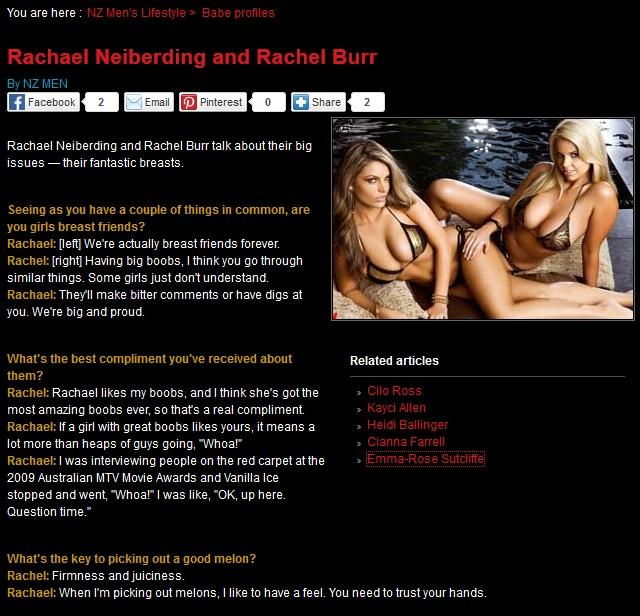 Rachael Neiberding and Rachel Burr