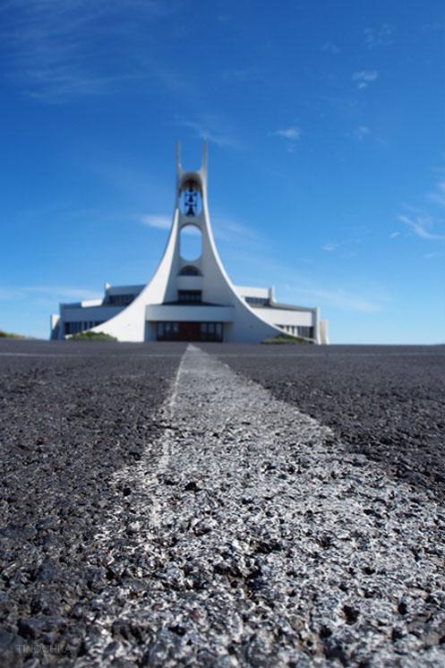 Дорога к церкви Stykkishólmur