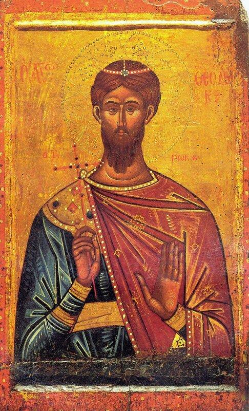 Святой Великомученик Феодор Тирон. Икона. Северная Греция, первая половина XVII века.
