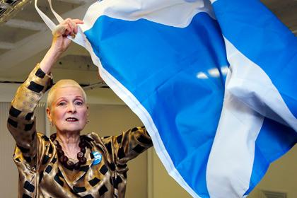 Вивьен Вествуд презентовала коллекцию для поддержки независимой Шотландии