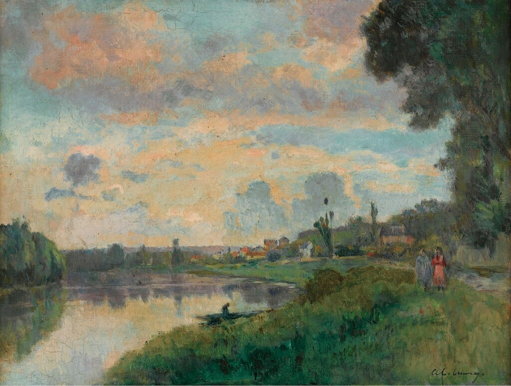 Albert Lebourg - The Banks of the Seine in the Outskirts of Rouen.jpg