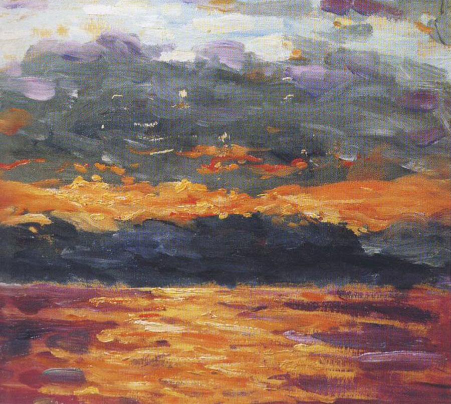 + 1920-ггЗакат над морем Оранжевое и пурпур.jpg