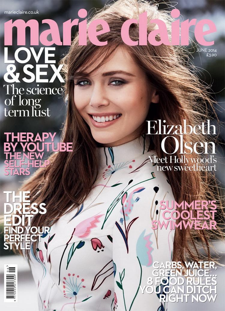 Элизабет Олсен в июньском British Marie Claire 2014