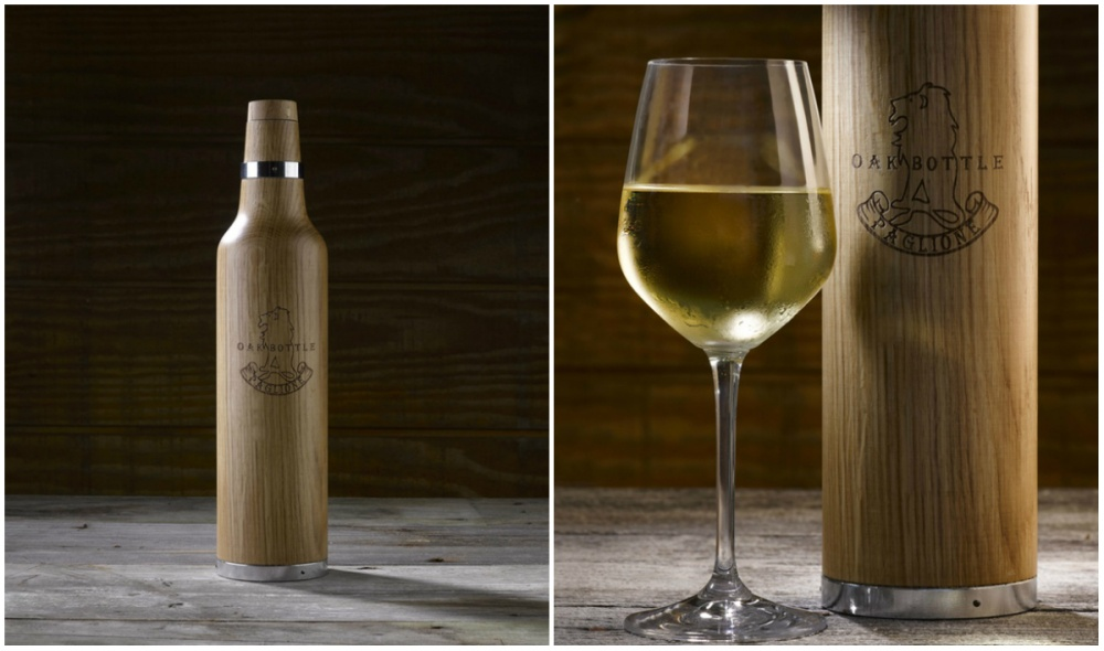 При помощи этой бутылки издревесины белого дуба можно сделать напитки более выдержанными. Нужно про