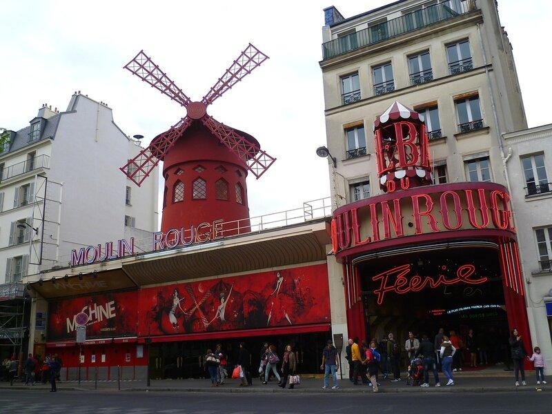 "Париж, Монмартр - кабаре ""Мулен Руж"" (Paris, Montmartre - cabaret ""Moulin Rouge"")"