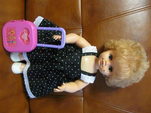 сарафан для куклы с кружевом