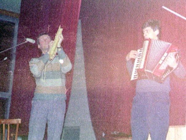 НОМ, С.Кагадеев,А.Ливер, первый концерт в ЛДМ, 1987