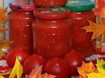 Помидоры на зиму в томатном соке