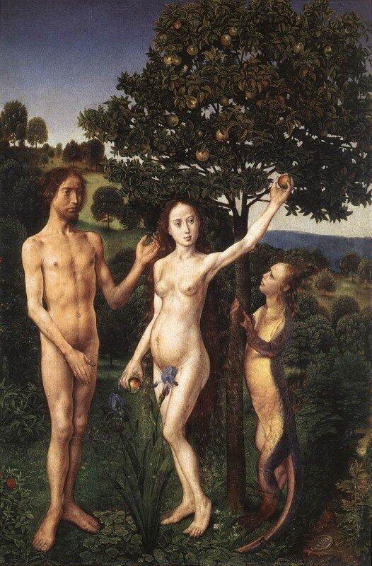 Гуго ван дер Гус. Адам и Ева