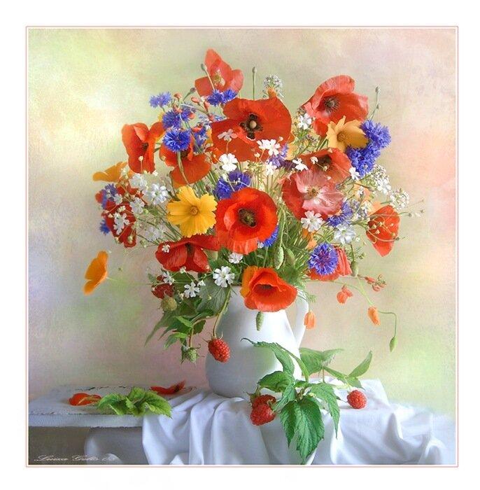 Пусть о любви моей букет цветов расскажет...