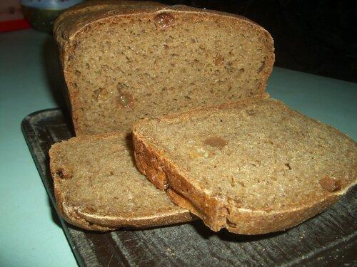 Бездрожжевой хлеб на квасной гуще и квасе
