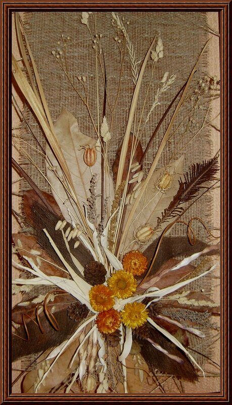 Картины из сухоцветов своими руками фото пошагово 72