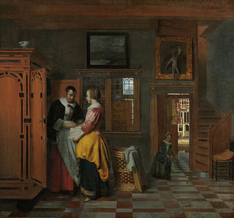 800px-Pieter_de_Hooch_-_At_the_Linen_Closet.jpg