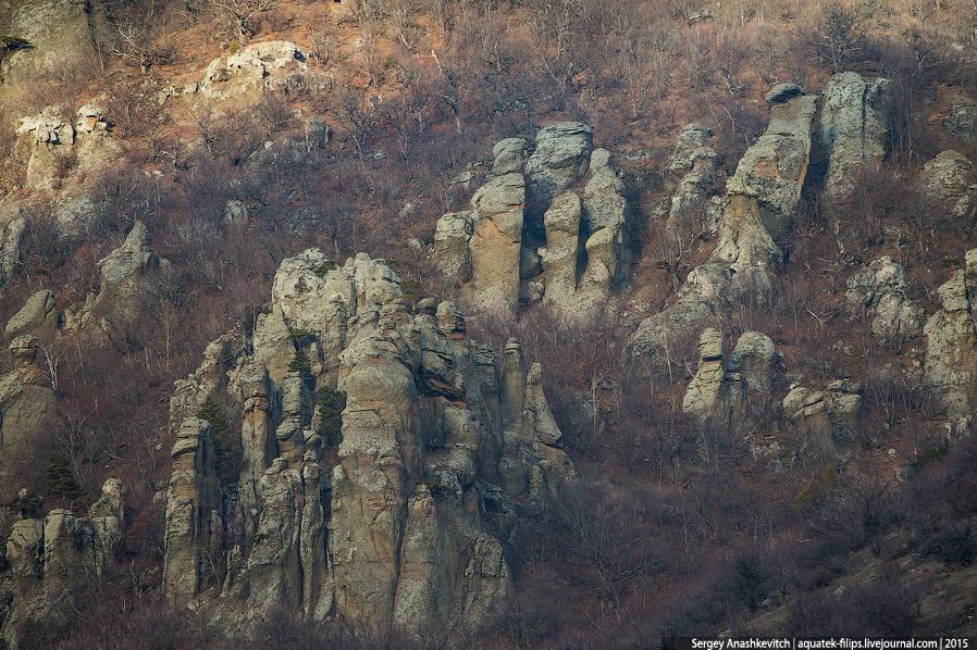 8. Вид на Долину с тропы, поднимающейся к вершине Южная Демерджи.