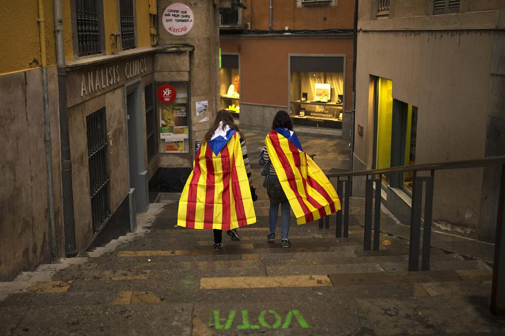 22. На следующий день, 2 октября было принято провести забастовку по всей Каталонии в знак протеста
