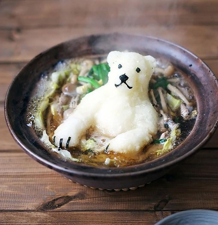 12. Полярный медведь в супе хот-пот