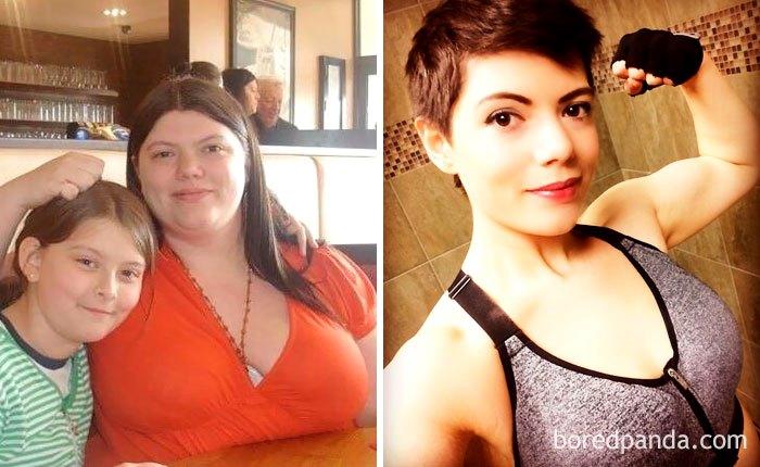 Встань и не жри: люди, кардинально сбросившие вес, до и после метаморфозы (15 фото)