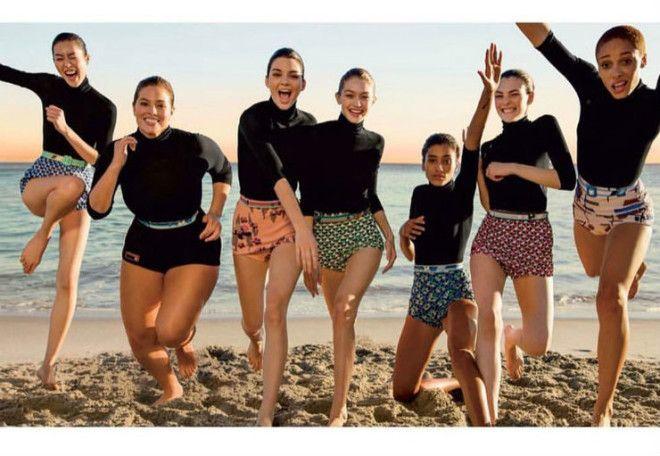 Правда, на обложке Эшли Грэм выглядела едва ли немного крупнее, чем другие девушки. Талия Эшли на фо