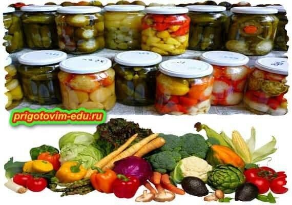 Общие правила маринование овощей и фруктов
