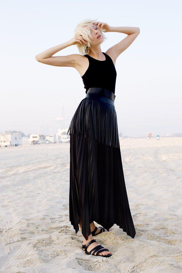 Black Dress: Theory Belt: BCBG Max Azria Earrings: COS