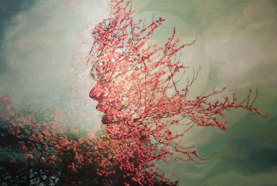 Double Exposures - Photorealistic Paintings - Pakayla Biehn