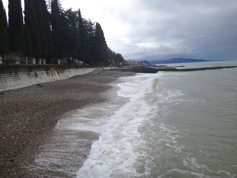 У моря Чёрного, в Абхазии, время зимнее, Новогоднее (18).JPG