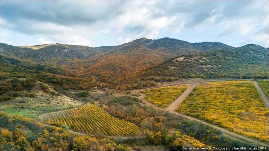 Осенний Крым с квадрокоптера
