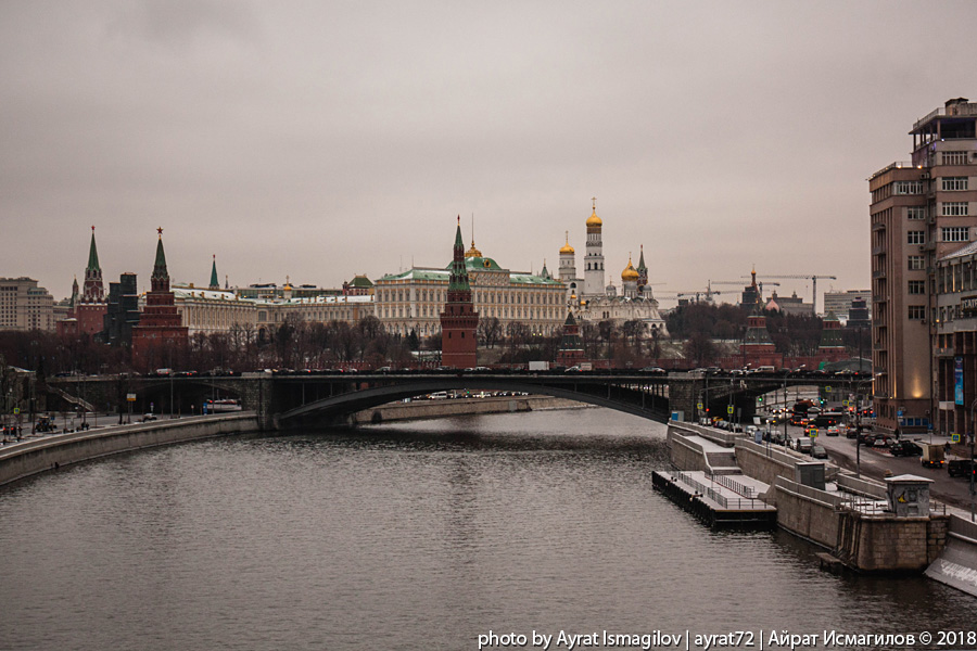 Ненастная Москва с Патриаршего моста -