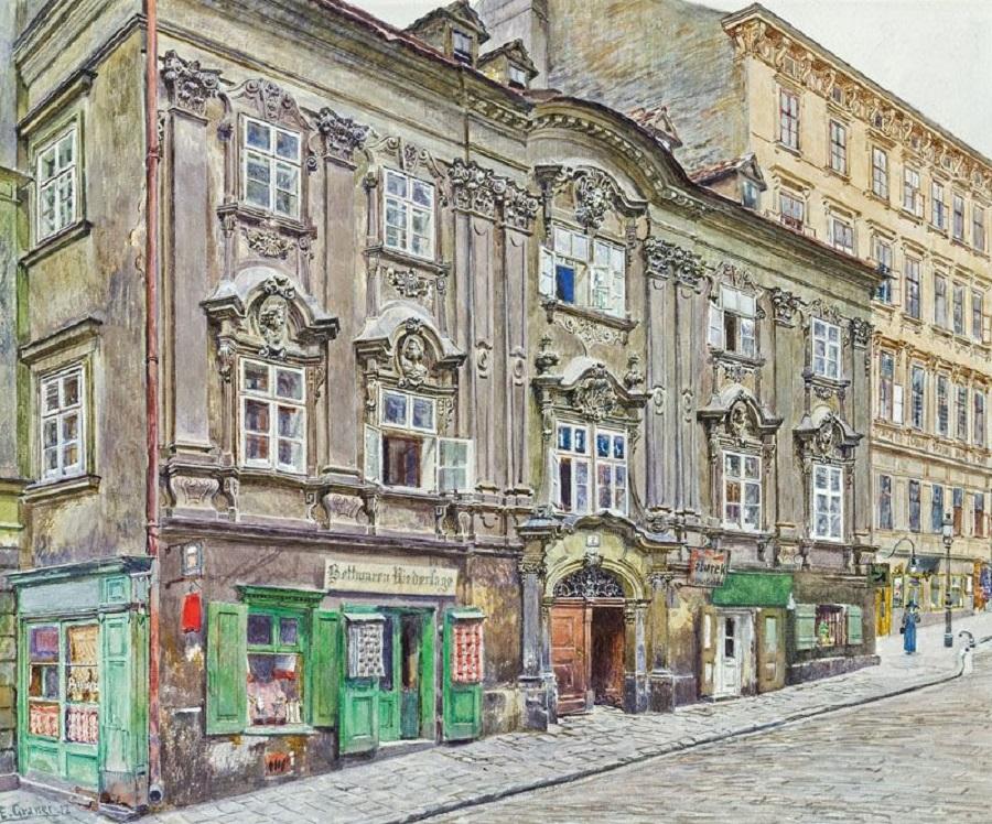 Vienna, Barockhaus at Ulrichsplatz , 1912
