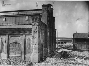 Ковочно-прессовая фабрика во время наводнения 1914 года