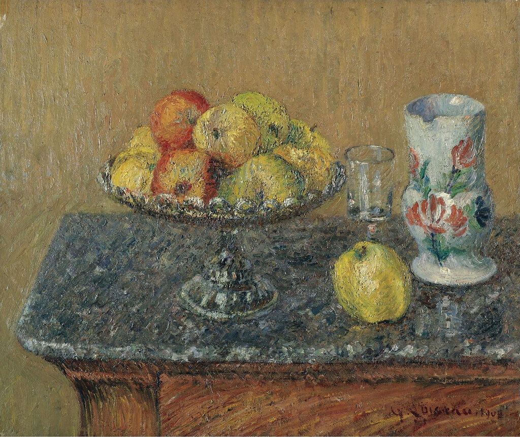 Gustave Loiseau - Fruit Bowl with Apples and a Jug, 1903.jpeg