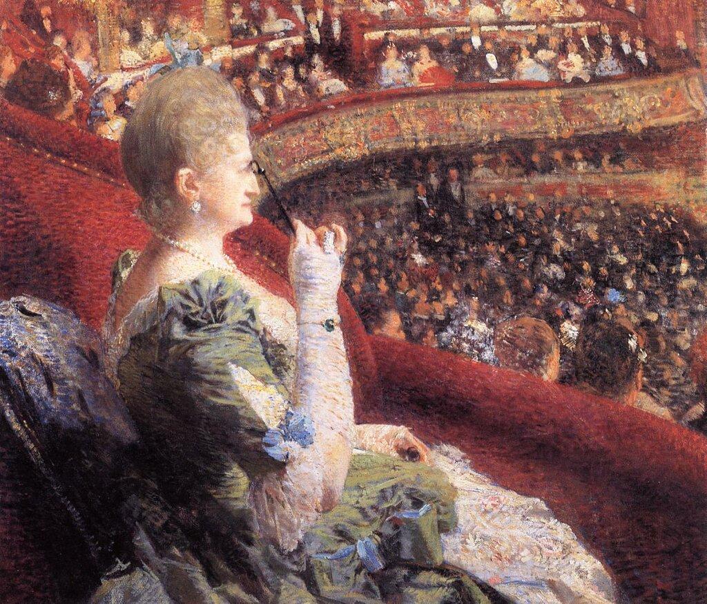 Madame Edmond Picard in Her Box at Theatre de la Monnaie, 1886.jpeg
