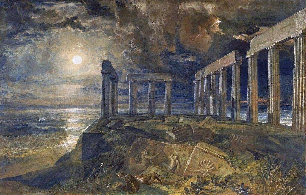 The Temple of Poseidon at Sunium (Cape Colonna) circa 1834 by Joseph Mallord William Turner 1775-1851