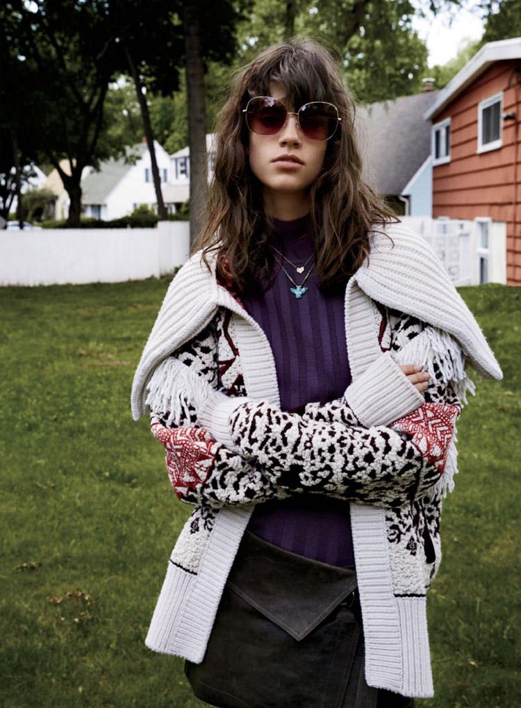 Антонина Петкович в журнале American Elle